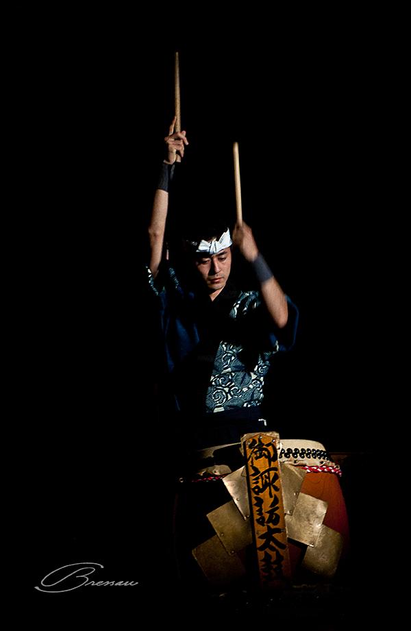 The taiko with its vigorous sound.