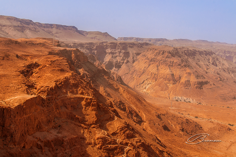 The Judean Desert as seen from the Masada Fortification.