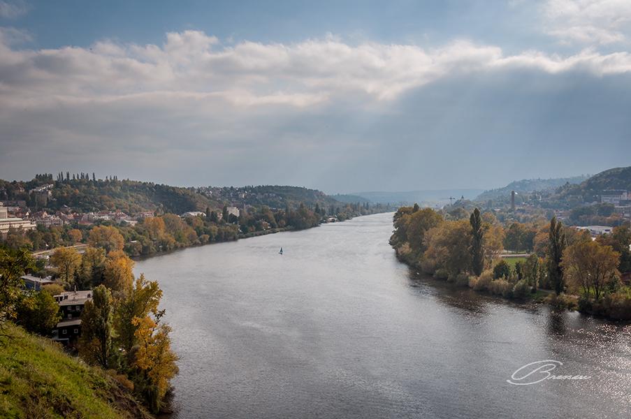 Vlatava River Seen From Vysehrad