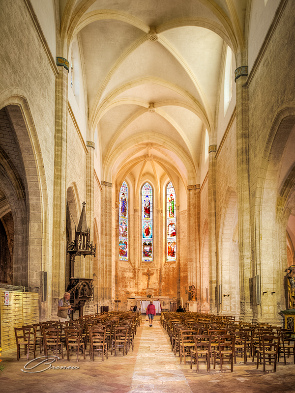Eglise Saint Félicien, Issigeac, France.