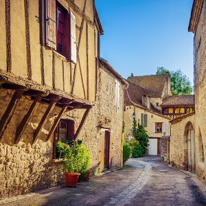 Typical Houses in Issigeac, France.