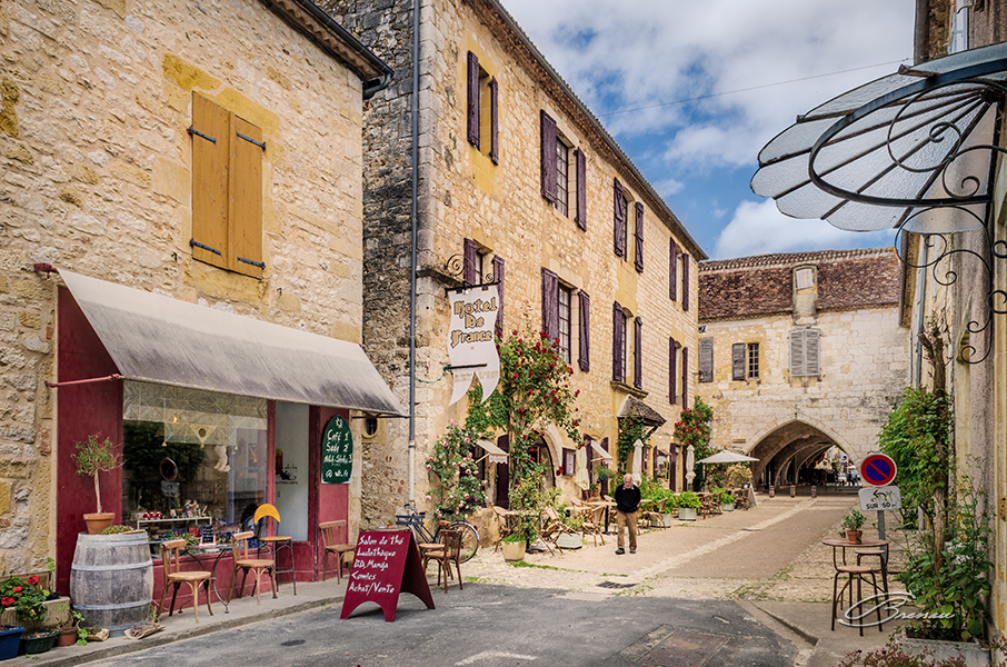 Life in the Small Bastide of Monpazier, France.