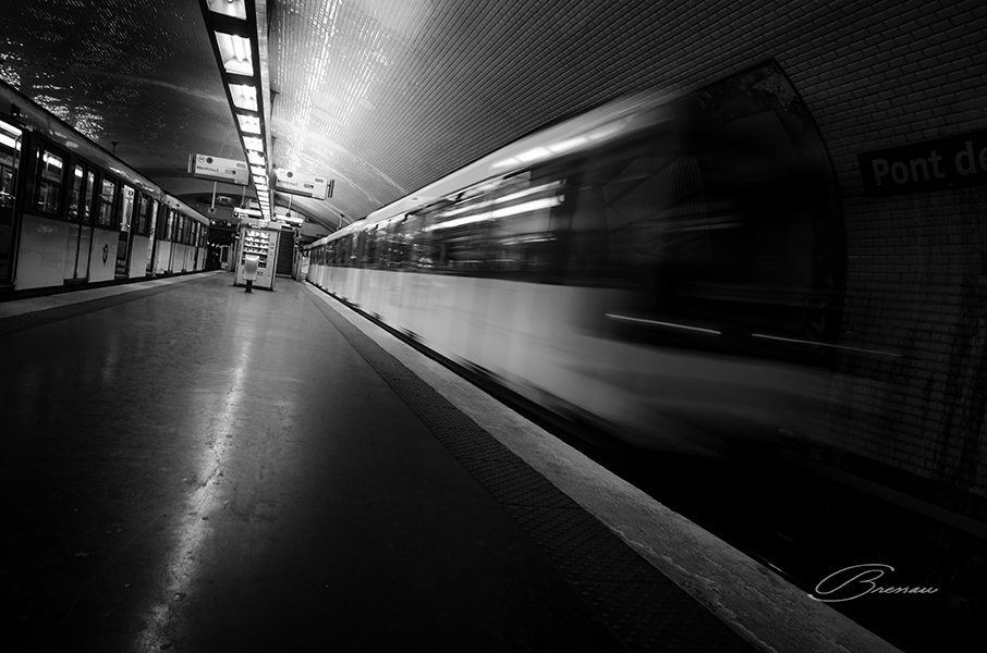 Down in the Metro, Paris, France.