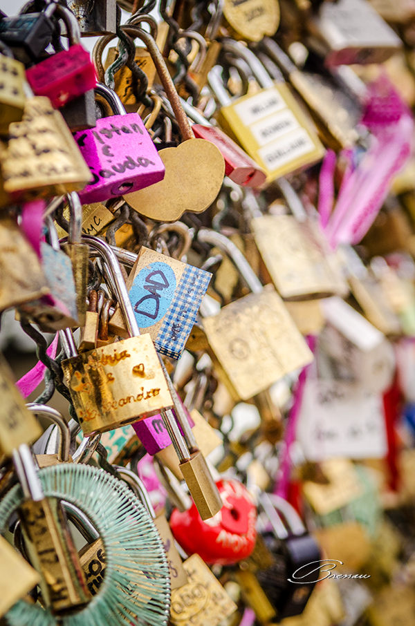 The love locks are a plague that torments authorities as the lovers throw out the keys and the leave the locks there.