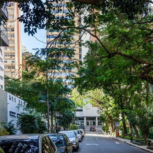 The tropical streets of Ipanema, Rio de Janeiro, Brazil.