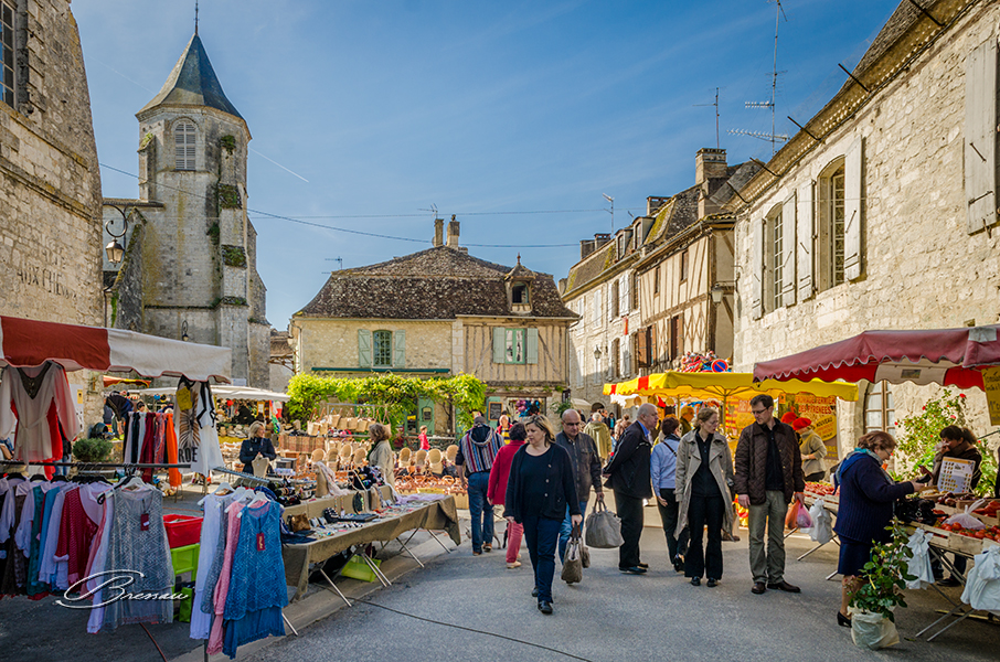 Sunday is the Market Day, Issigeac, France.